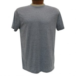 Men's R. Options by Basic Options Short Sleeve Washed Pigment Dye Crew Neck Tee, Charcoal