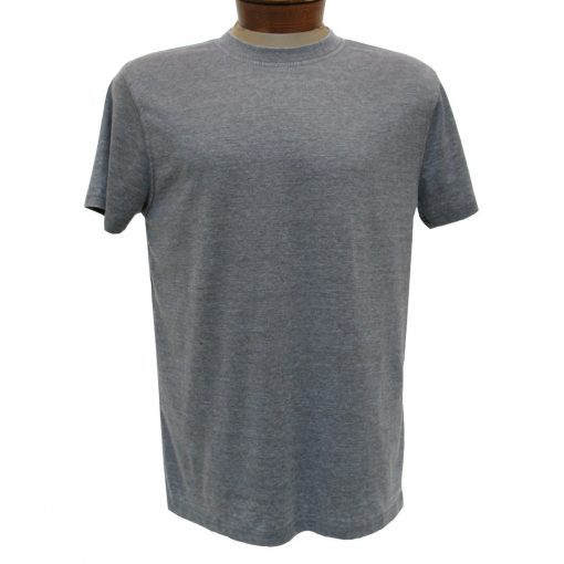 Men's R. Options by Basic Options Short Sleeve Washed Pigment Dye Crew Neck Tee, Charcoal Heather