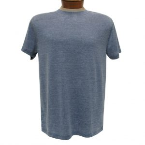 Men's R. Options by Basic Options Short Sleeve Washed Pigment Dye Crew Neck Tee, Denim