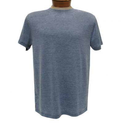 Men's R. Options by Basic Options Short Sleeve Washed Pigment Dye Crew Neck Tee, Denim Heather