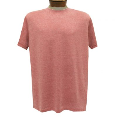 Men's R. Options by Basic Options Short Sleeve Washed Pigment Dye Crew Neck Tee, Rust