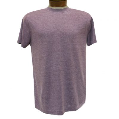 Men's R. Options by Basic Options Short Sleeve Washed Pigment Dye Crew Neck Tee, Wine