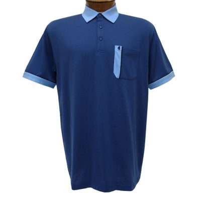 Men's Gabicci Polo Shirt, Short Sleeve Knit With Hard Collar, #X11 Fistral With Portofino