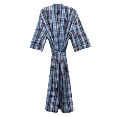 Majestic International 100% Cotton Summer Shell Kimono Robe, Lifeguard Red