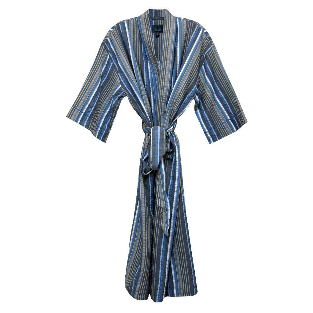 Majestic International 100% Cotton Sun Soaked Seersucker Kimono Robe, Shine  (SOLD OUT UNTIL 3/5/2020!)