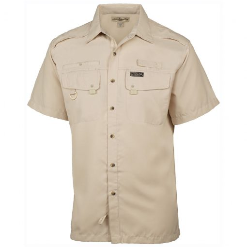 Men's Hook & Tackle, Short Sleeve Seacliff Performance Sun Protection Shirt #M01006S Sand