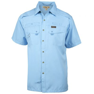 Men's Hook & Tackle, Short Sleeve Seacliff Performance Sun Protection Shirt #M01006S Sky Blue
