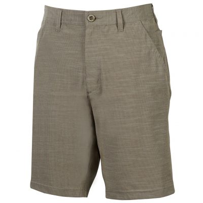 Men's Weekender Flat Front Travel 4-Way Stretch Short, Caicos, Khaki