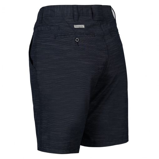 Men's Weekender Flat Front Travel 4-Way Stretch Short, Caicos, Navy
