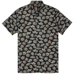 """Men's Tori Richard Brown Label Cotton Lawn Relaxed Fit Short Sleeve Shirt, Shoal Mates #ME14 Black """"USE COUPON TR2 AT CHECK OUT"""""""