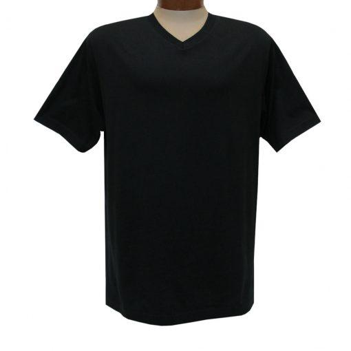 Men's Pima Cotton High V-Neck Tee Shirt, By Gionfriddo International #GK2005 Black
