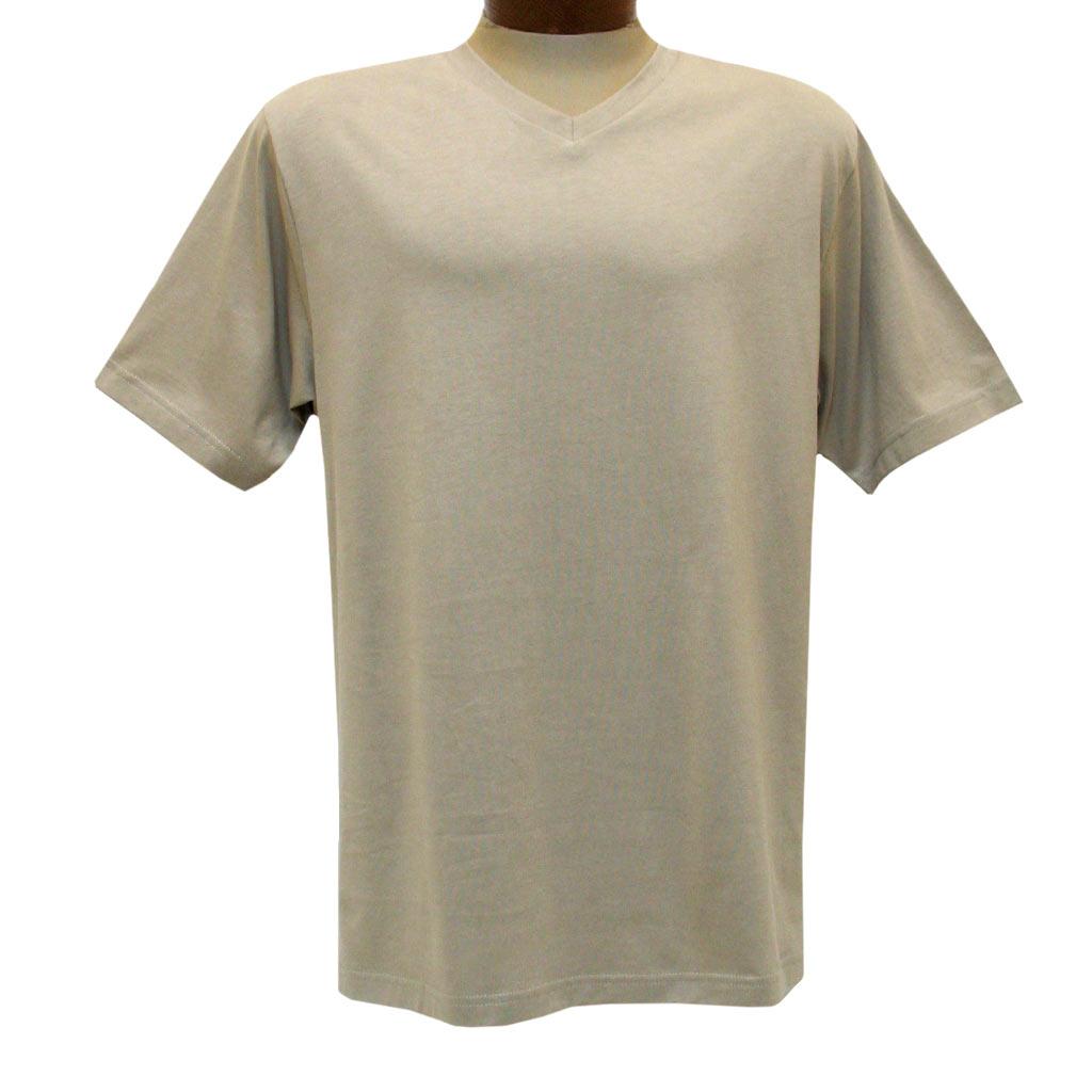 Men's Pima Cotton High V-Neck Tee Shirt, By Gionfriddo International #GK2005 Khaki