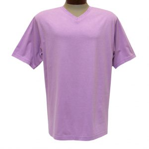 Men's Pima Cotton High V-Neck Tee Shirt, By Gionfriddo International #GK2005 Lilac