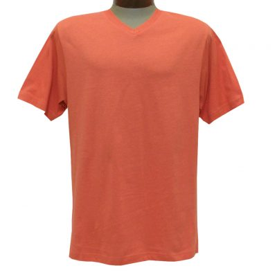Men's Pima Cotton T Shirt, High-V Short Sleeve By Gionfriddo International #GK2005 Rust