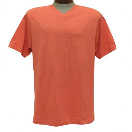 Men's Pima Cotton T Shirt, High-V Short Sleeve By Gionfriddo International #GK2005 Rust