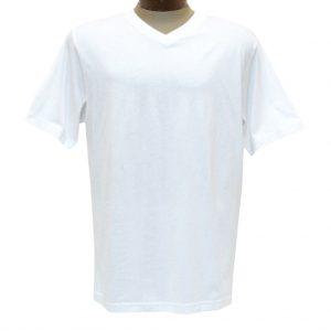Men's Pima Cotton T Shirt, High-V Short Sleeve By Gionfriddo International #GK2005 White