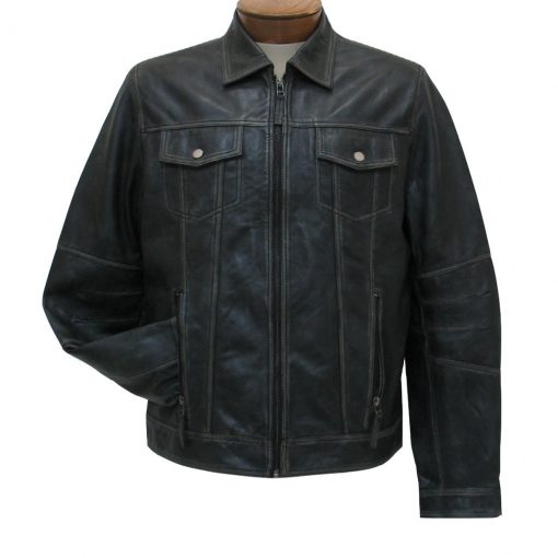 Men's Scully Vintage Leather Jacket #1032 Black