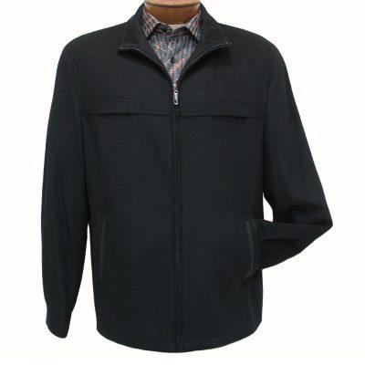 Men's ENZO Cashmere Blend Bomber Jacket, Play Black