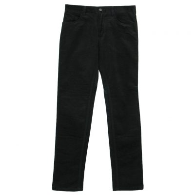 Mens Enzo Denim Collection Baby Whale Corduroy Jeans Alpha-148 Black