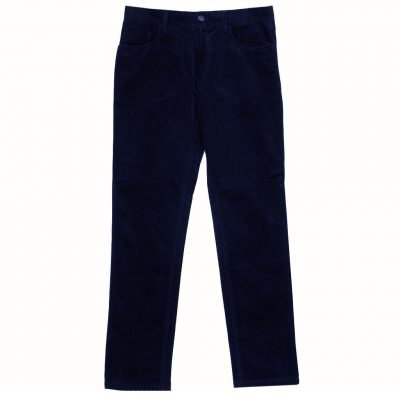 Mens Enzo Denim Collection Baby Whale Corduroy Jeans Alpha-152 Navy