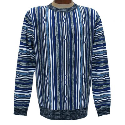 Men's Prestige Original Textured Crew Neck Sweater #CG-401, Royal