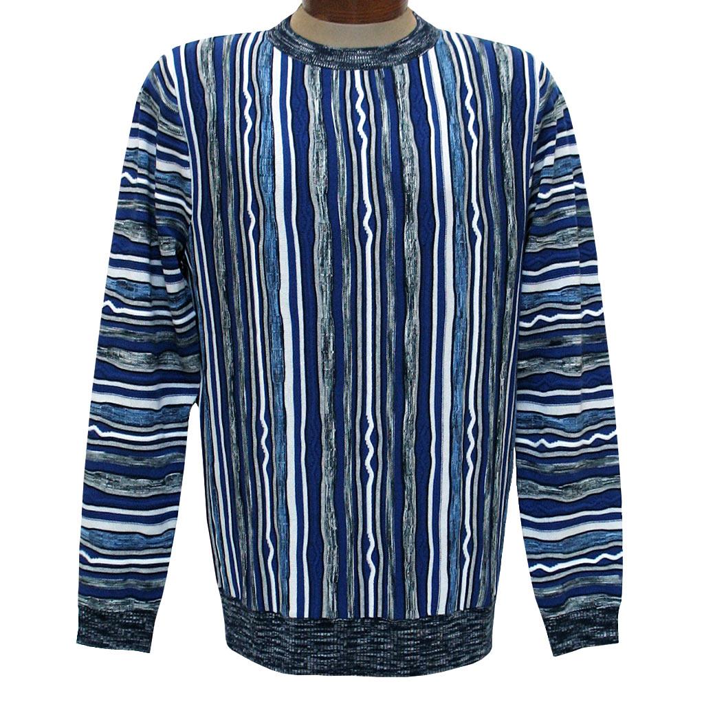 Men's Prestige Original Textured Crew Neck Sweater #CG-401, Royal