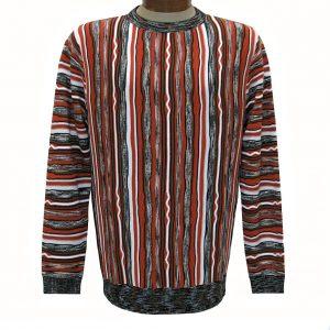 Men's Prestige Original Textured Crew Neck Sweater  #CG-401, Rust