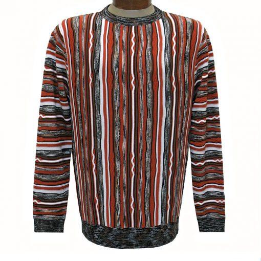 Men's Prestige Original Textured Crew Neck Sweater #CG-401 Rust