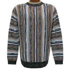 Men's Prestige Original Textured Crew Neck Sweater  #CG-401, Tan