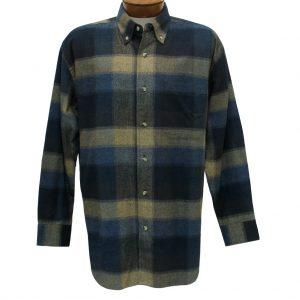 Men's Woodland Trail By Palmland Long Sleeve 100% Cotton Plaid Flannel Shirt #5900-106 Mocha (XXL, ONLY!)