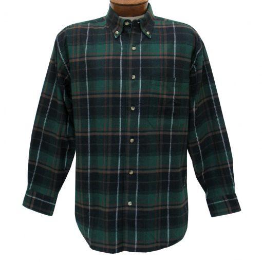 Men's Woodland Trail By Palmland Long Sleeve 100% Cotton Plaid Flannel Shirt #5900-115 Hunter