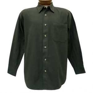Men's Woodland Trail By Palmland Long Sleeve 100% Cotton Solid Chamois Shirt #5900-100 Loden Heather
