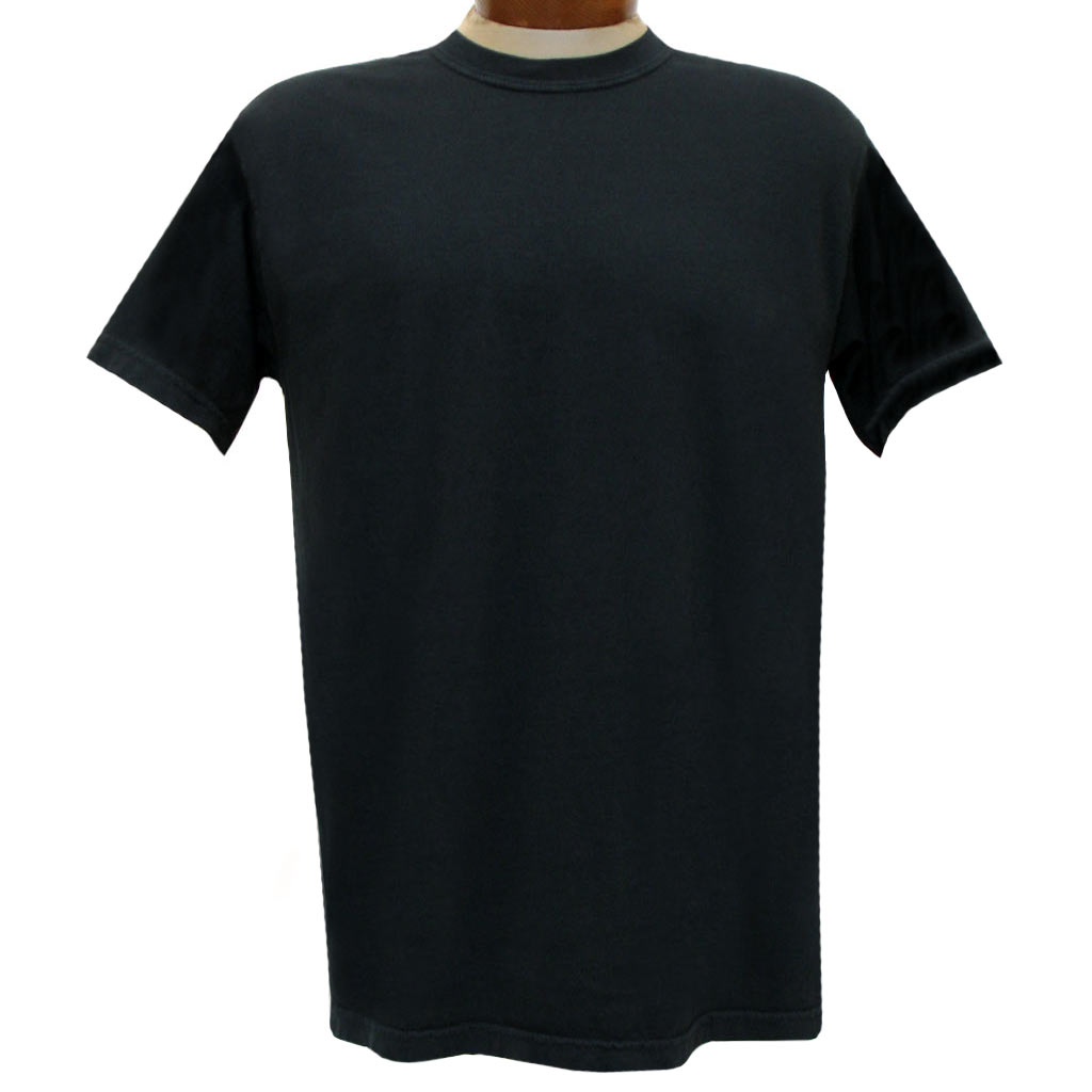 Men's R. Options by Basic Options Short Sleeve Clear Colored Dyed Tee, Black