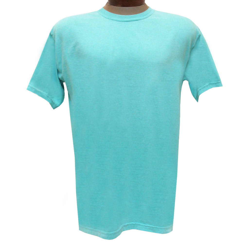 Men's R. Options by Basic Options Short Sleeve Pigment Dyed Tee, Aqua