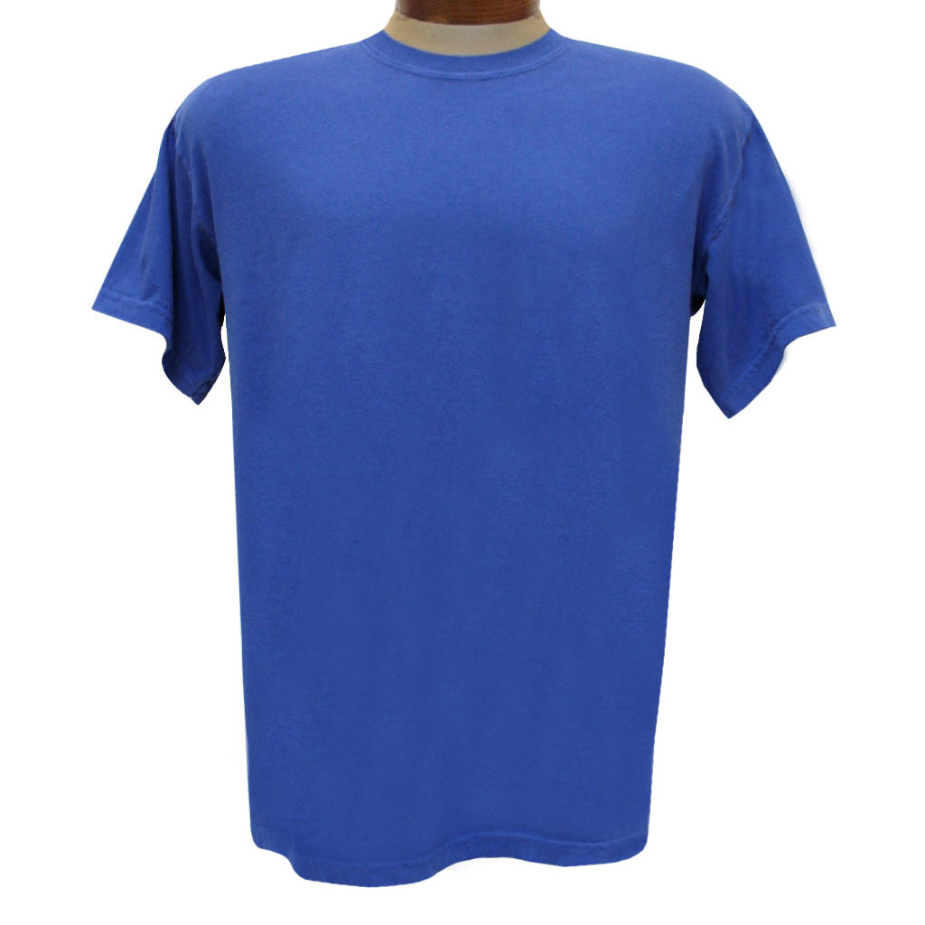 Men's R. Options by Basic Options Short Sleeve Pigment Dyed Tee, Bright Blue