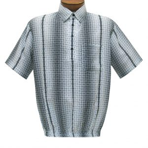 Men's Short Sleeve Microfiber Banded Bottom Shirt By Bassiri, Our Exclusive Handpicked Designs, #63065 White