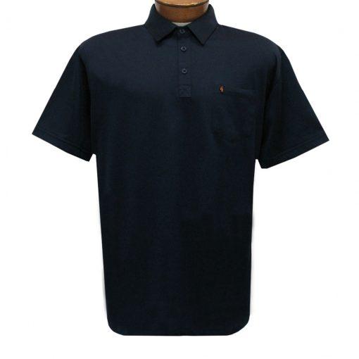 Men's Gabicci Polo Shirt, Short Sleeve Knit With Hard Collar, #Z05 Navy