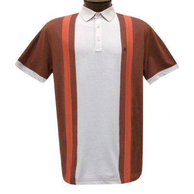 Men's Gabicci Vintage Polo Short Sleeve Knit Shirt With Hard Collar, #X01 Flare