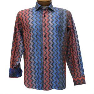 Men's Luchiano Visconti Sport Edition Zigzag Stripe Long Sleeve Sport Shirt #4283 Multi