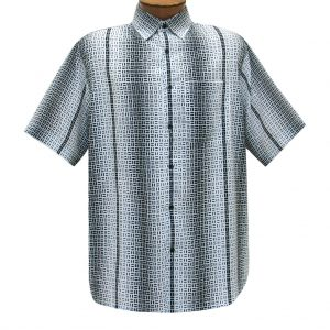 Men's Bassiri Short Sleeve Button Front Microfiber Sport Shirt With A Pocket #63061 White