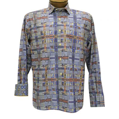 Men's Luchiano Visconti Sport Edition Modern Maize Long Sleeve Sport Shirt #4286 Multi
