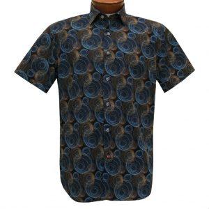 Men's Luchiano Visconti Sport Edition Short Sleeve 100% Cotton Sport Shirt, #42149 Multi