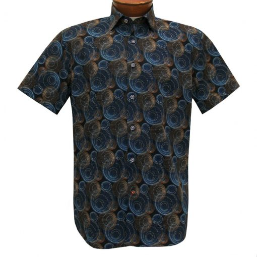 Men's Luchiano Visconti Sport Edition Short Sleeve 100% Cotton Sport Shirt, #42149 Multi