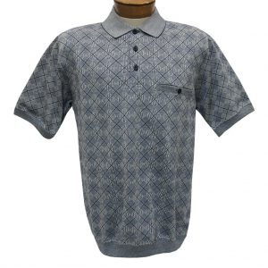 Men's Classics By Palmland Short Sleeve Polo Knit Banded Bottom Shirt, #6191-416 Navy (M, ONLY!)