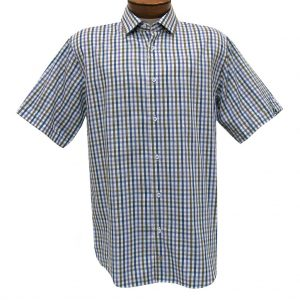 F/X Fusion Trend Modern Fit Short Sleeve  Woven Sport Shirt,  #T436 Purple/Tan/Blue (XL, ONLY!)