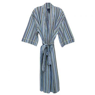 Mens Majestic International 100% Cotton Sunbuster Seersucker Kimono Robe, Sun