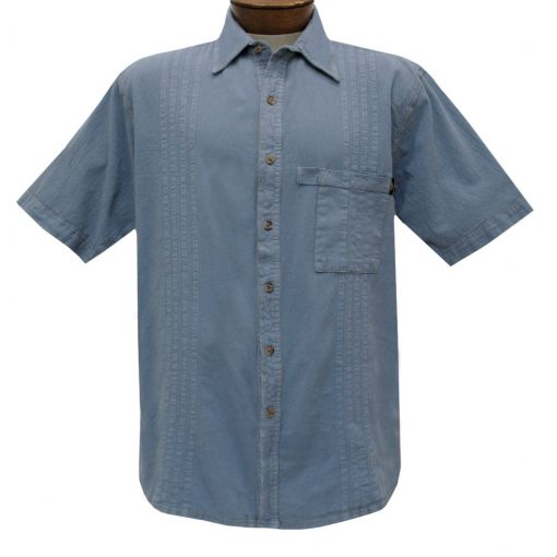 Men's Farthest Point By Scully Short Sleeve Traveler Casual Button Front Shirt #4800 Citadel Blue