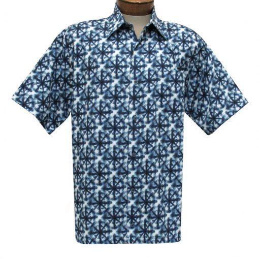 Men's Justin Harvey Short Sleeve Classic Fit Super Soft Cotton Sport Shirt, Peace Of Blue #ZW131