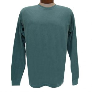 Men's R. Options by Basic Options Long Sleeve Pigment Dyed Tee, Blue Spruce