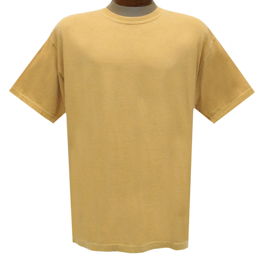 Men's R. Options by Basic Options Short Sleeve Pigment Dyed Tee, New Mustard